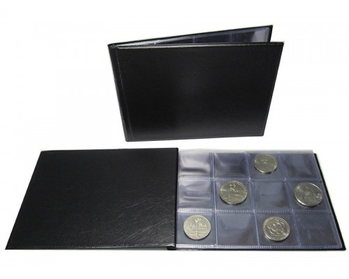 Альбом «Юбилейка» для монет на 72 ячейки, ПВХ