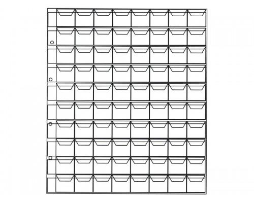 Лист Оптима на 80 ячеек с кармашками