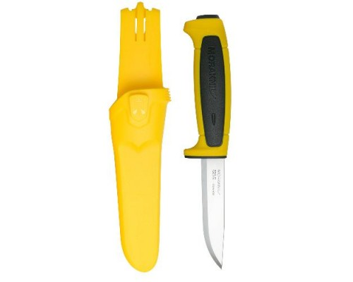 Нож Morakniv Basic 546, нержавеющая сталь, пластиковая ручка (желтая), черная вставка