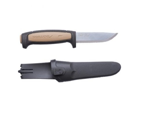 Нож Morakniv ROPE, нержавеющая сталь, резиновая ручка
