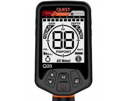 "Металлоискатель Deteknix Quest Q20 Raptor (катушка 11x9.5"" DD)"