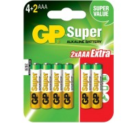 Батарейка GP Super LR03/24A 6BP