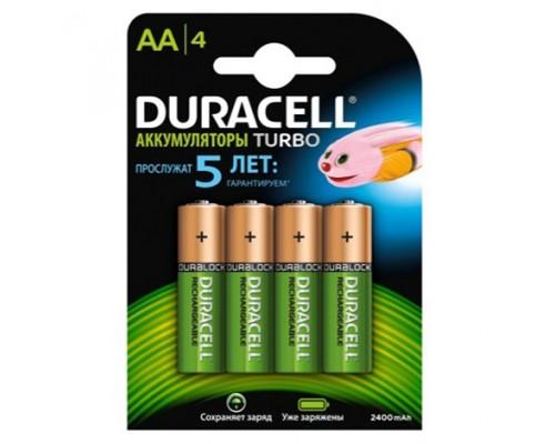 Аккумуляторная батарея DURACELL AA 2500mAh 4BP