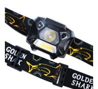 Фонарь налобный GOLDEN SHARK Hunter Plus (с аккумулятором)