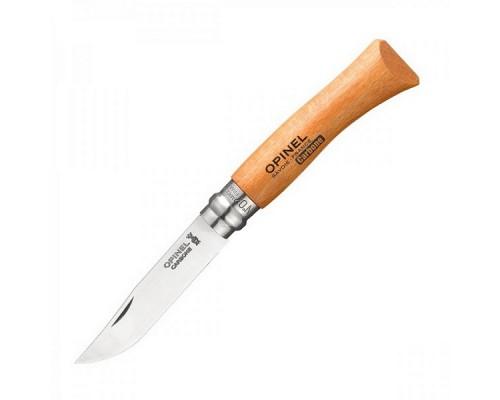 Нож Opinel №7, углеродистая сталь, рукоять из дерева бука