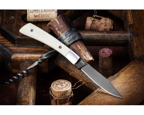 Складной нож Kizlyar Supreme GENT AUS-8 BONE BLACK TITANIUM