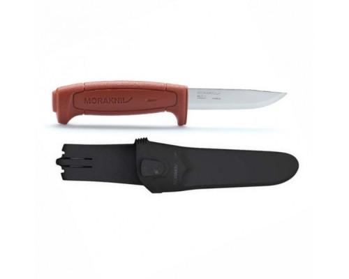 Нож Morakniv Basic 511, углеродистая сталь, пластиковая ручка (красная)